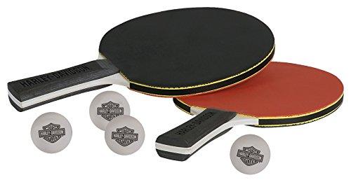 Harley-Davidson Table Tennis Paddle Set (2 Paddles & 4 Balls) by Harley-Davidson