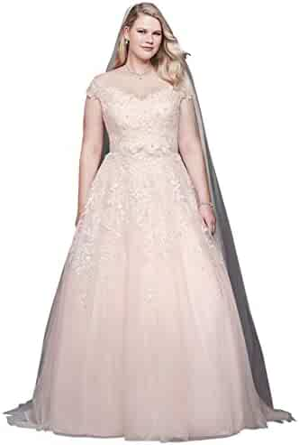c9dd204b14c David s Bridal Off-The-Shoulder Applique Plus Size Wedding Dress Style  9WG3940