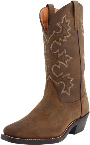 Laredo Men's Dover Western Boot,Tan Distressed,10.5 D US