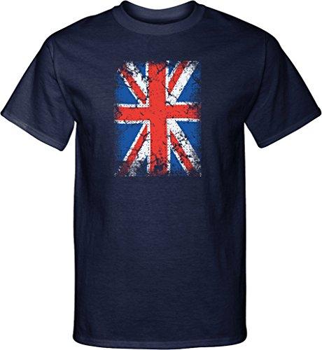 Mens Union Jack Tall T-shirt, Navy, Tall (Union Jack Design)