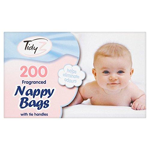 200 desechables higiénica para pañales con fragancia de saco bolsas de basura perfumada (aroma de asas: Amazon.es: Bebé