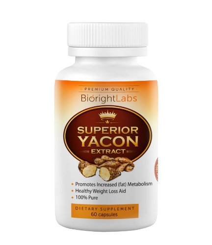 Superior Yacon Extract - All Natural Healthy Weight Loss Pills - Curbs Appetite and Regulates Hunger Hormone