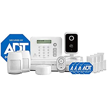 Adt Home Security Systems >> Lifeshield Home Security Advantage Kit Includes Base Station Touchpad 2 Motion Sensors 4 Entry Sensors Fire Safety Sensor Keychain Remote Indoor