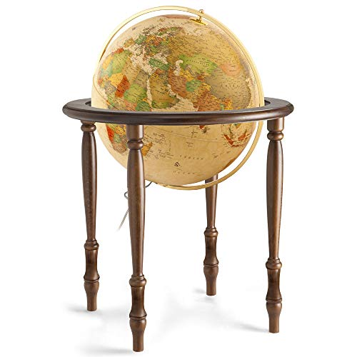 (Waypoint Geographic Valencia 20-inch Floor Standing Antique Oceans Illuminated Globe (Antique) )