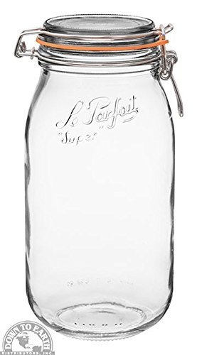 Le Parfait French Glass Canning Jar with 85mm Gasket and Lid - 2 Liter
