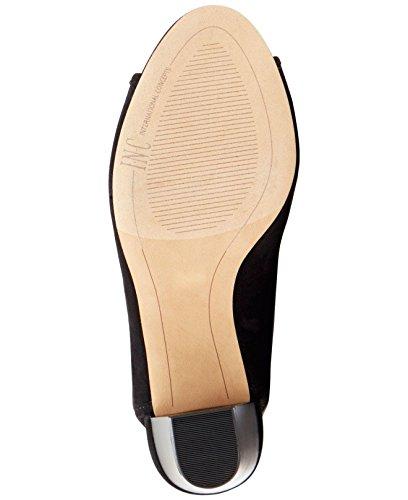 INC International Concepts Womens Kayden Fabric Peep Toe Ankle, Black, Size 7.0