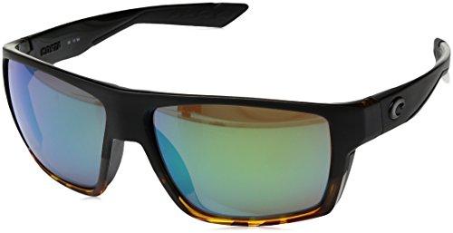 (Costa Del Mar Costa Del Mar BLK181OGMGLP Bloke Green Mirror 580G Matte Black/Shiny Tortoise Frame Bloke, Matte Black/Shiny Tortoise Frame, Green Mirror 580G)