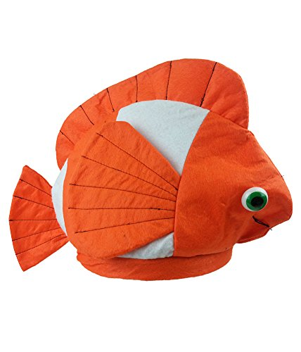 Fish Hat - Ocean Hat Costume Hat Clown Fish Hat Ala Nemo - Funny Beach Themed Costumes