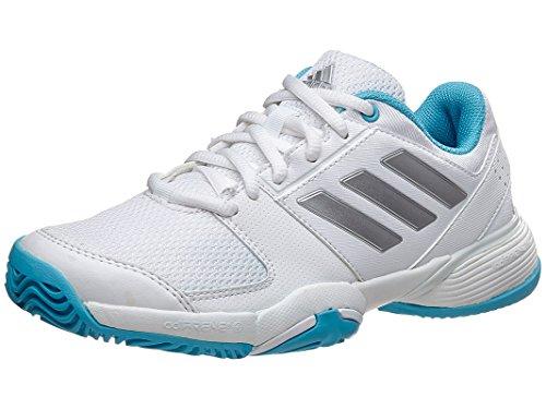 Price comparison product image adidas Performance Kids' Barricade Club XJ Skate Shoe, White/Metallic/Silver/Samba Blue, 7 M US Big Kid