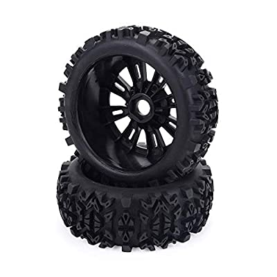 17mm Hub Wheel Rim & Tires Tyre for 1/8 Off-Road RC Car Buggy KYOSHO HPI LOSI HSP GT2 Redcat Axial Traxxas: Toys & Games