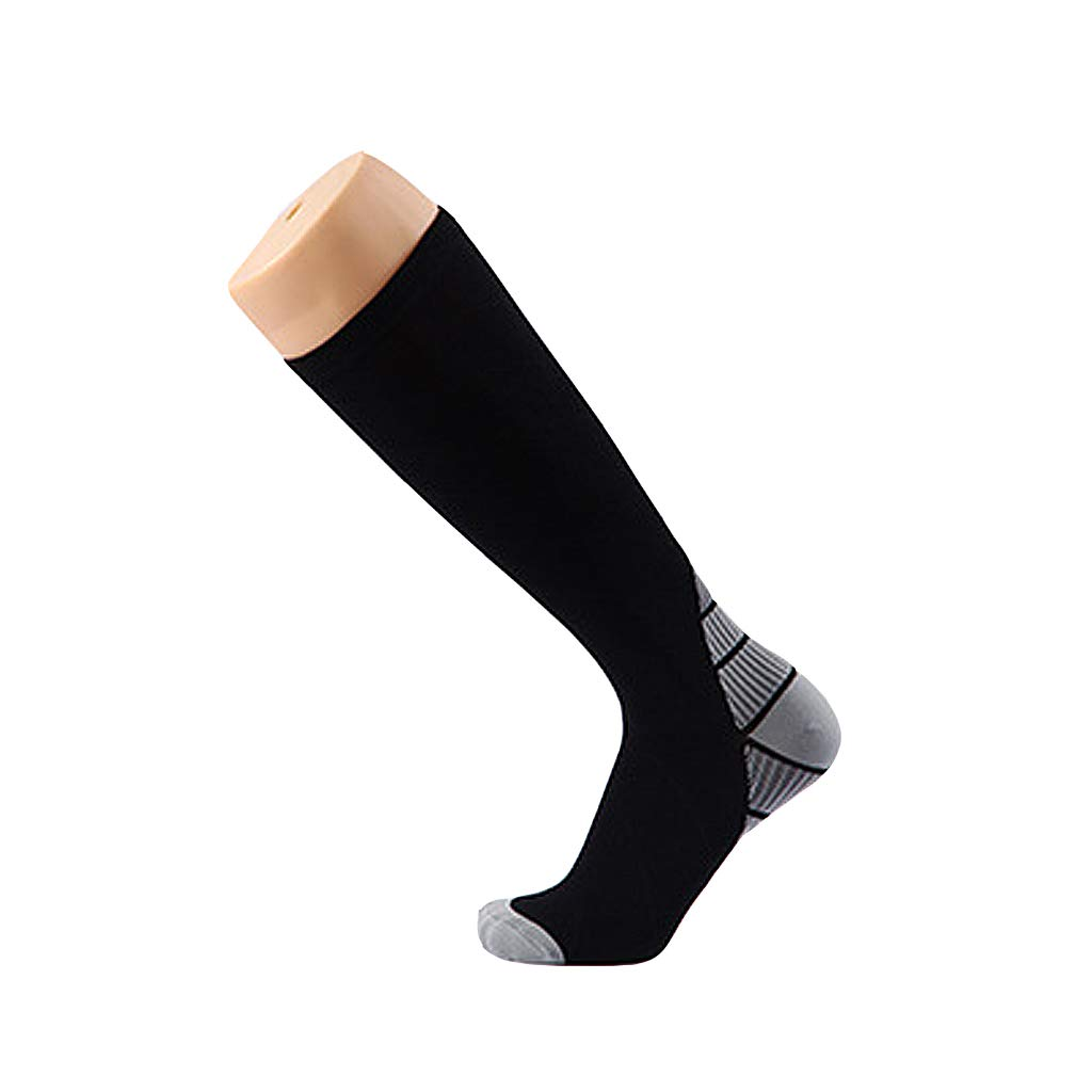 ZHAO YING Compression Socks - Sports - Football Socks - Fitness - Running - Breathable - Elastic - Socks (Color : Gray, Size : S/M)