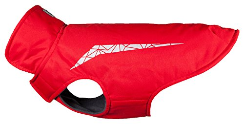 RC Pet Products Cascade Jacket Fleece Lined Water Resistant Dog Coat, Size 16, Red by RC Pet Products
