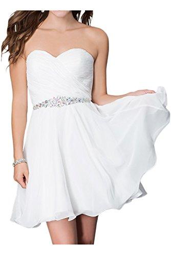 Brau Linie Lang Traegerlos Weiß mia Pailletten Brautjungfernkleider Rock Herzausschnitt La Ballkleider A Partykleider mit Abendkleider nvqZRw5x58