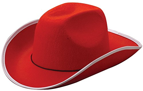 US Toy Cowboy Hat Costume, Red (Adult Black Cowboy Hat)
