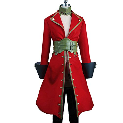 MYYH Anime Francis Drake Cosplay Costume Red Uniform Suit (Francis Drake Costume)