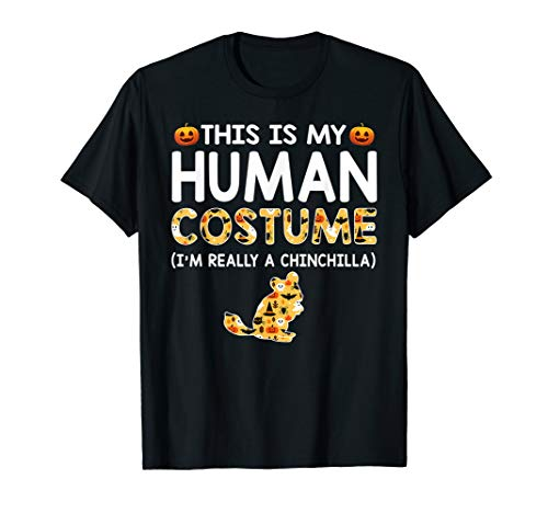 Chinchilla Halloween Costumes (This is My Human Costume Halloween Chinchilla Shirts)