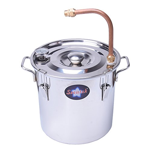 Suteck 5 Gal Moonshine Still Spirits Kit 18L Water Alcohol Distiller Copper Tube Boiler Home Brewing Kit with Thumper Keg Stainless Steel by Suteck (Image #7)