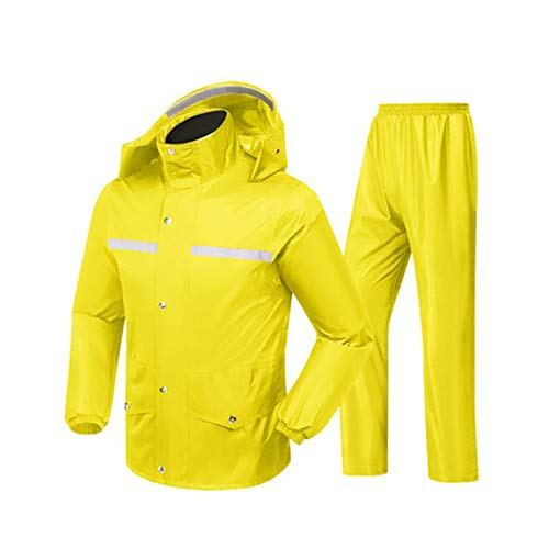 Armour couleur L Double Taille Jxjjd jaune Pants Set noir Layer Split Split Raincoat Jaune Jaune Rain 6q0xXP