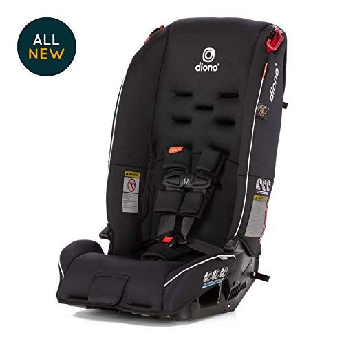 Diono Radian 3R All-in-One Convertible Car Seat - Extended Rear-Facing 5-40 Pounds, Forward-Facing to 65 Pounds, Booster to 100 Pounds - The Original 3 Across, Black
