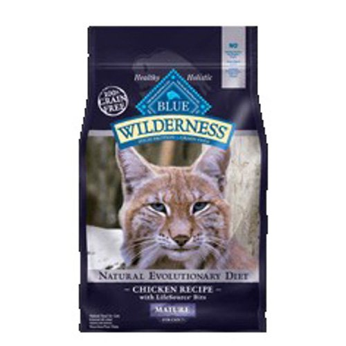 Blue Buffalo Wilderness High Protein Grain Free, Natural Mature Dry Cat Food, Chicken 5-lb by BLUE Wilderness