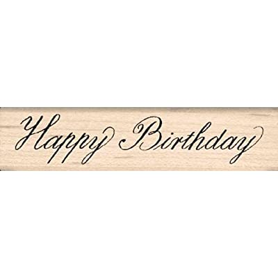 Stamps by Impression Happy Birthday Rubber Stamp: Arts, Crafts & Sewing
