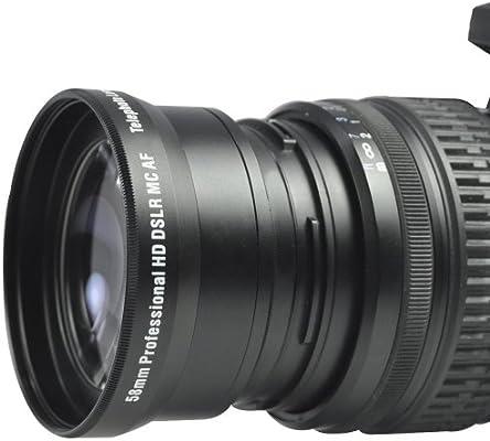 Teleobjetivo 2.2 X de alta definición Lente 58 mm para Canon Rebel T3i T3 T2i T2 T1i XT XTi XSi XS y Canon EOS – 1100d 600d 550d 500d 450d 400d 350d ...
