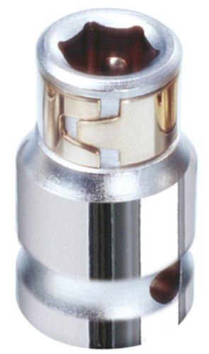 KS Tools 918.3983 3/8 Zoll Chrome Plus Bit-Adapter-Stecknuss, für Bits 1/4 Zoll