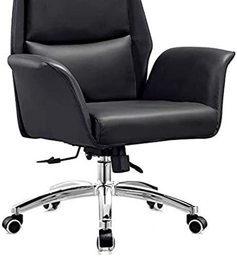 Kontorsstol, datorstol, chef stol, enkel och modern ergonomisk stol, hushållsstol, ryggstöd svängbar stol, företag läderstol