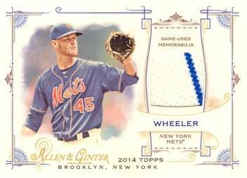 2014 Topps Allen & Ginter Relics #FSR-ZW Zack Wheeler Game Worn Jersey Baseball Card
