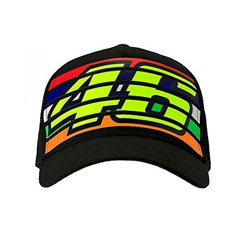 (Valentino Rossi Black Vr46 Stripes Snapback Cap (Default, Black))