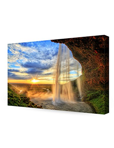 DECORARTS waterfall Seljalandfoss Giclee 36x24x1 5