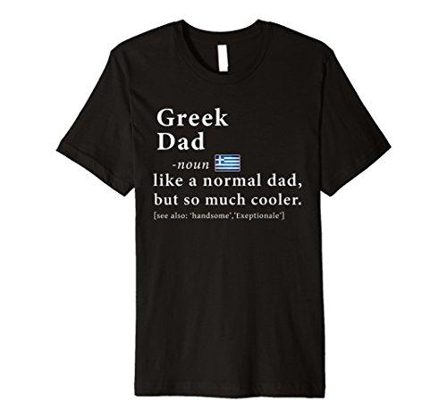 Mens Greek Dad Definition tShirt Fathers Day Gift Flag -