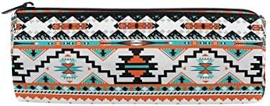 Estuche para lápices Vinlin, tribal, étnico, azteca, geométrico, portátil, multifuncional, con cremallera, para escuela, oficina: Amazon.es: Oficina y papelería