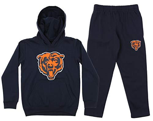 Outerstuff NFL Youth Team Color and Fleece Hoodie Set, Chicago Bears Medium 10/12