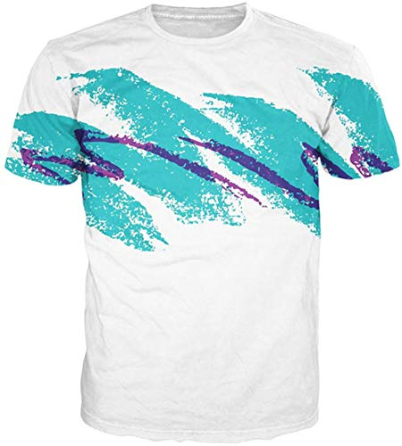 Mens Novelty T-Shirts 80's Jazz Solo Cup Printed Cool Vintage Retro Graphic Tees Summer Casual Womens Losse Fit Tops Teen Boys Tops ()
