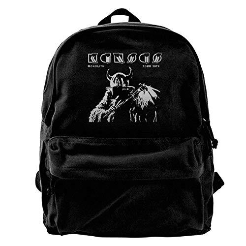 Canvas Backpack Kansas Band Monolith Tour 1979 Rucksack Gym Hiking Laptop Shoulder Bag Daypack For Men Women