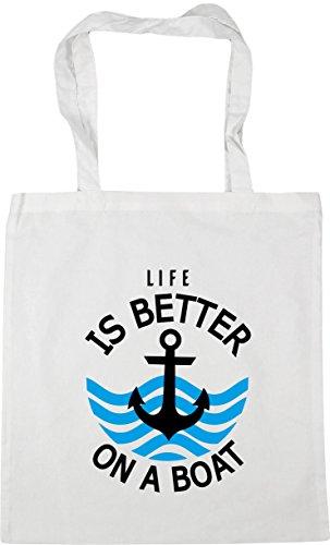 Bag better x38cm HippoWarehouse Tote on a White Shopping is Life litres 42cm 10 Beach boat Gym xBwBf