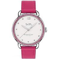 Relógio Coach Feminino Couro Rosa - 14502879