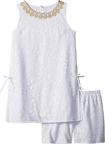 Lilly Pulitzer Kids Baby Girl's Mini Donna Set (Toddler/Little Kids/Big Kids) Resort White Mocean Lace 10 by Lilly Pulitzer