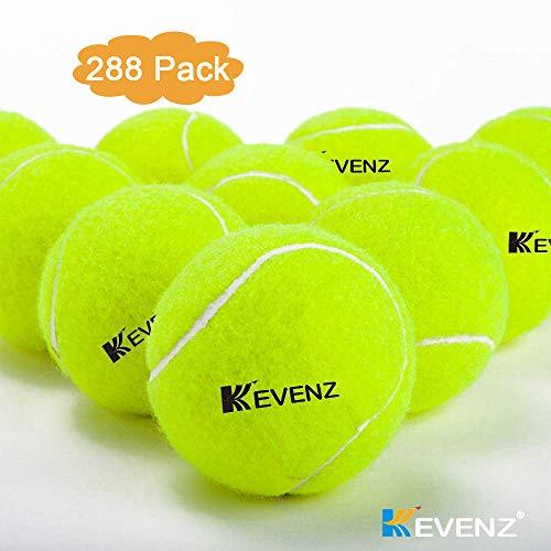 KEVENZ Green Advanced Training Tennis Balls,Practice Ball,Tennis Racket (288-Pack) by KEVENZ (Image #1)