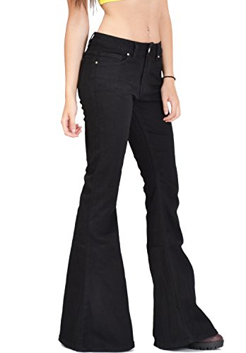 Glamour Outfitters Women's 60s 70s Flares Bell-Bottom Wide Flared ...