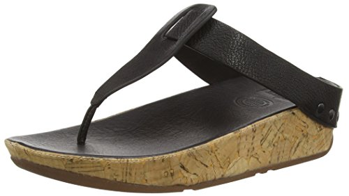 fitflop Women's Ibiza Cork Flip Flop, Black, 6 M US for sale  Delivered anywhere in Canada