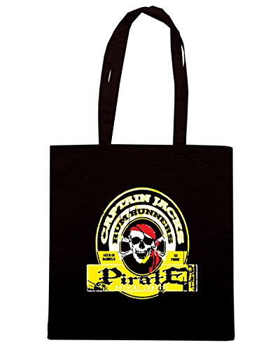 T-Shirtshock - Bolsa para la compra BEER0046 captain jacks rum runners Negro