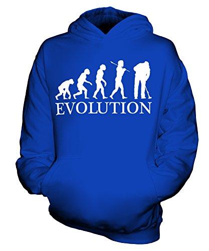 CandyMix Reinigungskraft Putzfrau Evolution Des Menschen Unisex Kinder Jungen/Mädchen Kapuzenpullover, Größe 7-8 Jahre, Farbe Königsblau