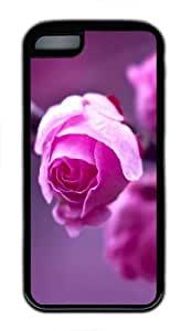 iPhone 5C Cases & Covers -Pink roses branch macro Custom TPU Soft Case Cover Protector for iPhone 5C- TPU - Black