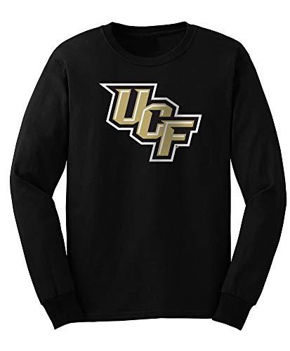 Elite Fan Shop NCAA Men's Central Florida Golden Knights Long Sleeve Shirt Team Icon UCF Knights Black -