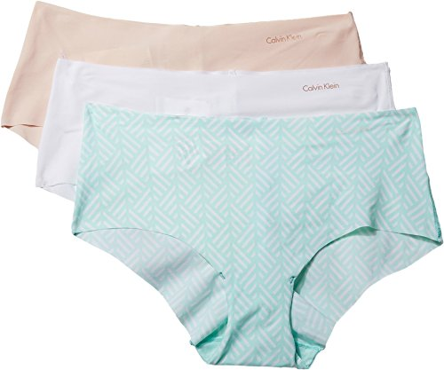 Calvin Klein Invisibles Hipster 3-Pack, M, Blush/White/Mint