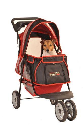 InnoPet® Hundebuggy Hundewagen Kinderwagen für Hunde rot schwarz klassisch Pet Stroller Modell