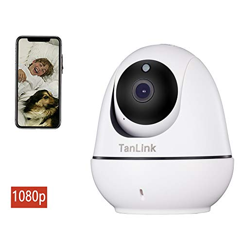 WiFi IP Security Camera, TanLink 1080P HD Wireless Home Surveillance Camera for Baby Elder Pet Nanny Monitor,Pan Tilt,Two-Way Audio,Motion Detection Night Vision