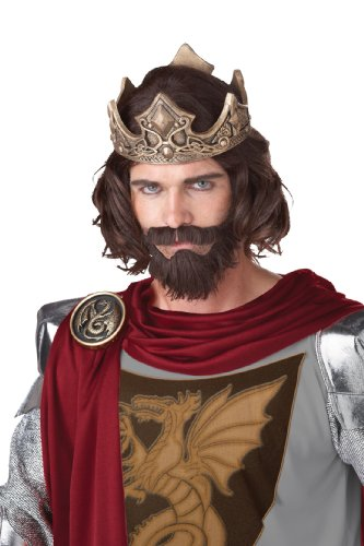 California Costumes Medieval King Wig, Brown, One Size ()